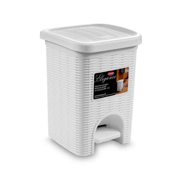 פח אמבטיה 6 ליטר Elegance  לבן