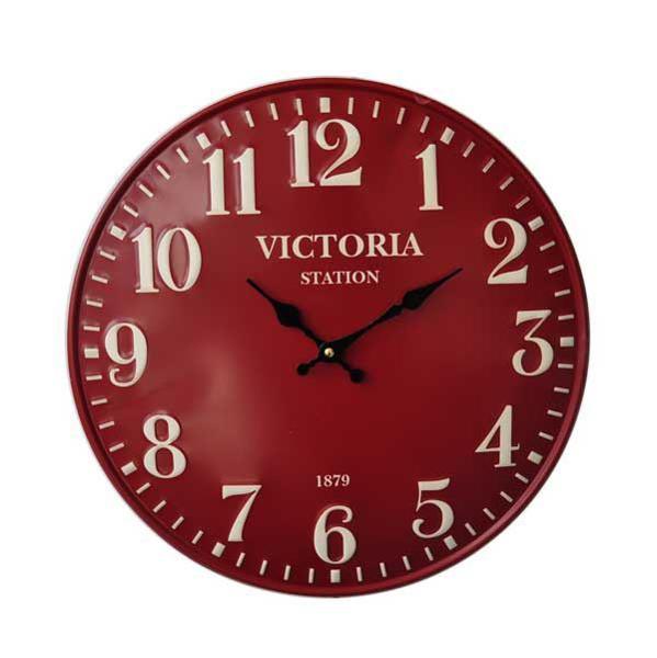 תמונה של שעון קיר דקורטיבי Bistrot אדום