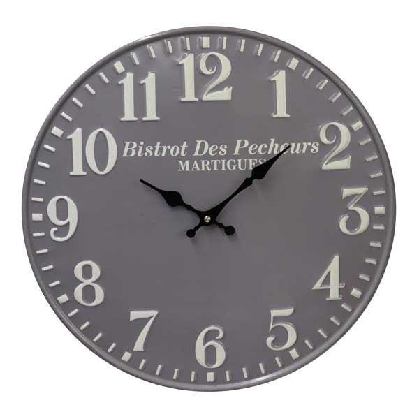 תמונה של שעון קיר דקורטיבי Bistrot אפור