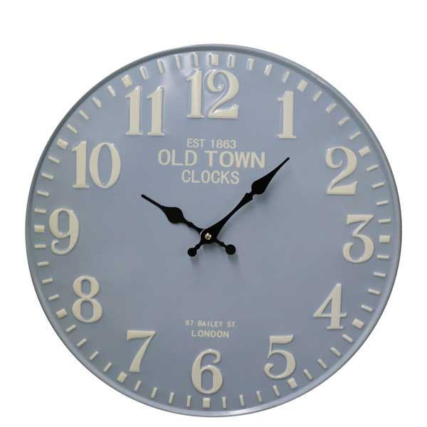 תמונה של שעון קיר דקורטיבי Bistrot כחול