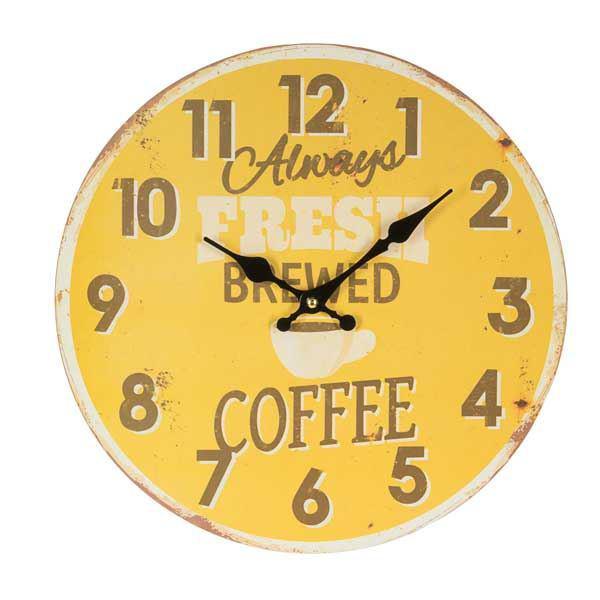 תמונה של שעון קיר דקורטיבי Brewered Coffee