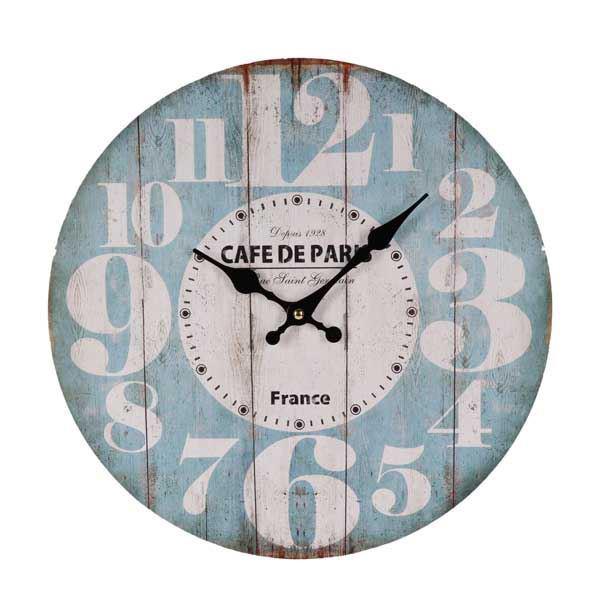 תמונה של שעון קיר דקורטיבי Cafe De Paris
