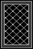שטיח עם בסיס גומי רשת שחור לבן