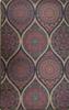 שטיח עם בסיס גומי טיפות באדום