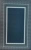 שטיח עם בסיס גומי אפור כחול קלאסי