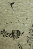 שטיח עם בסיס גומי ציפורים חום