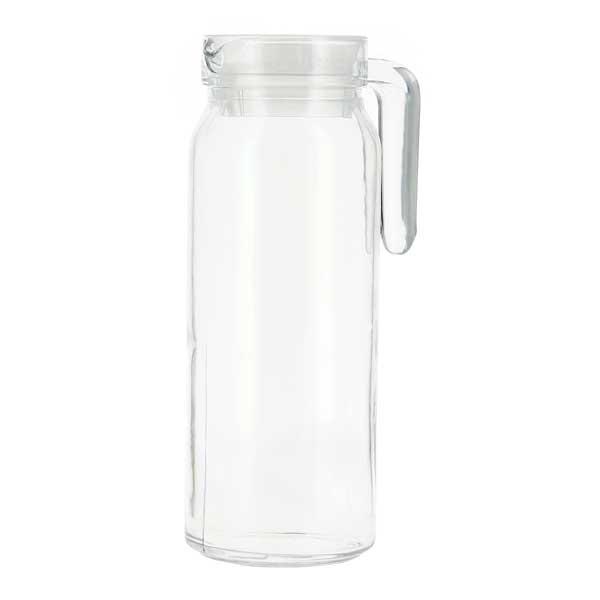 קנקן מים מאורך מזכוכית עם מכסה אטום