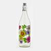 בקבוק מים 1 ליטר עם פקק אטום פרחוני
