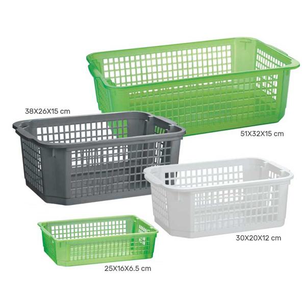 סלסלות פלסטיק לארגון ואחסון