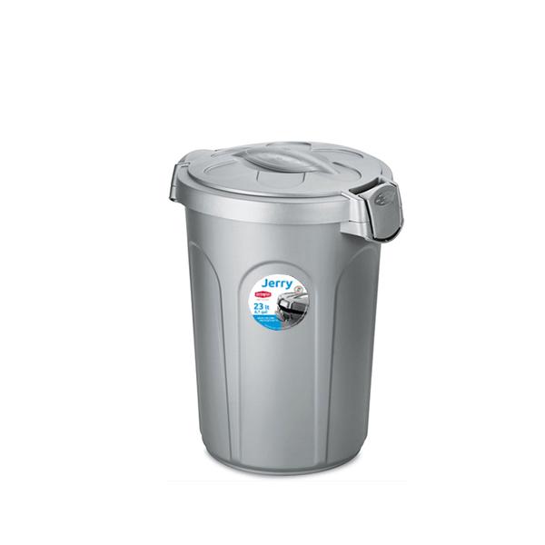 פח אשפה 23 ליטר מפלסטיק אפור מבית Stefanplast