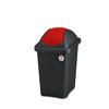 פח אשפה 30 ליטר מכסה מניפה אדום מבית Stefanplast