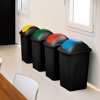 פח אשפה 30 ליטר מכסה מניפה מבית Stefanplast - תמונת אוירה