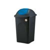 פח אשפה 60 ליטר עם מכסה מניפה מכסה כחול מבית Stefanplast