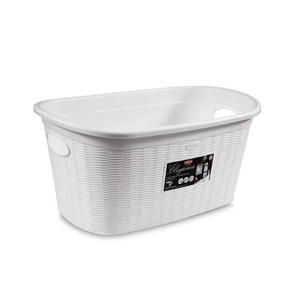 סלסלה לכביסה בנפח 35 ליטר בצבע לבן מבית Stefanplast