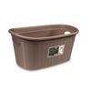 סלסלה לכביסה בנפח 35 ליטר בצבע חום מבית Stefanplast