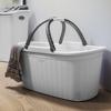 סלסלה לכביסה עם ידית נשיאה בנפח 35 ליטר -Elegance תמונת אוירה