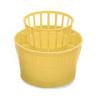 """יבשן סכו""""ם קלאסי מפלסטיק בגודל 13X12 ס""""מ מבית Stefanplast צהוב"""