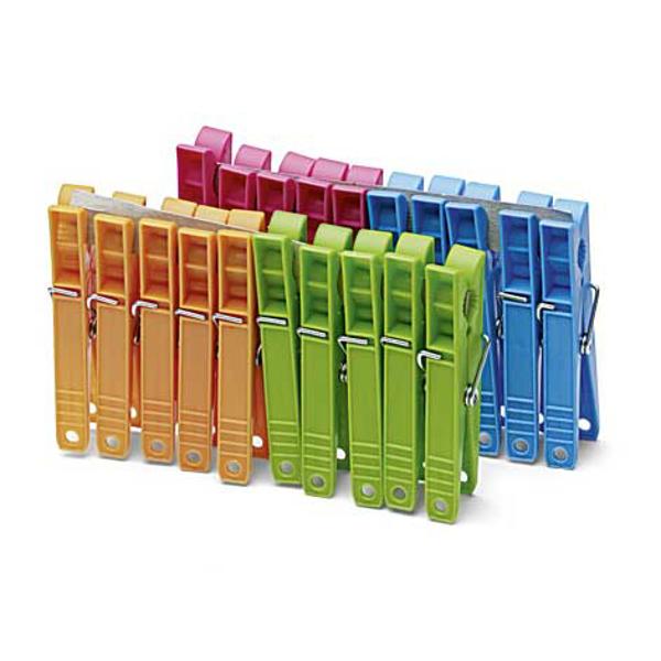 """סט של 50 אטבי כביסה מפלסטיק צבעוני באורך 8 ס""""מ מבית Coronet"""