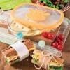 קופסה מעוצבת לשמירה ואחסון גבינה פרוסה