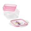 קופסת אוכל מחולקת לילדים 0.8 ליטר מרובע נסיכה SnipLock