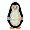 תבנית לקוביות קרח עגולות לילדים. התבנית עם מכסה בצורת פינגווין