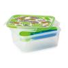 קופסת אוכל מחולקת 1.5 ליטר מלבני ג'ונגל SnapLock