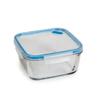 קופסת אחסון לאוכל מזכוכית 0.8 ליטר מרובע