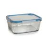 קופסת אחסון לאוכל מזכוכית 1.5 ליטר מלבני